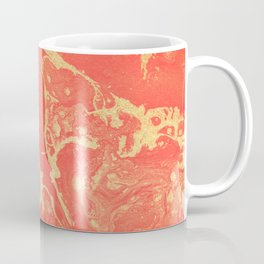 Effect coral and gold marble Coffee Mug