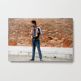 The Accordionist Metal Print