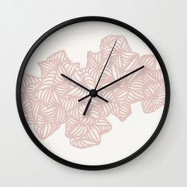 Les Coquilles Roses - baby pink shells Wall Clock