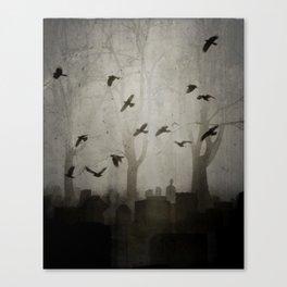 Gothic Crows Eerie Ceremony Canvas Print
