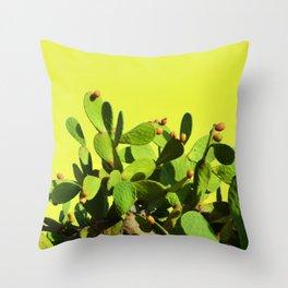Cactus fruit & yellow Throw Pillow