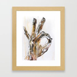"""Knot Okay,"" mixed media, TJF 2015  Framed Art Print"
