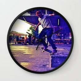 Colorful Skater Wall Clock