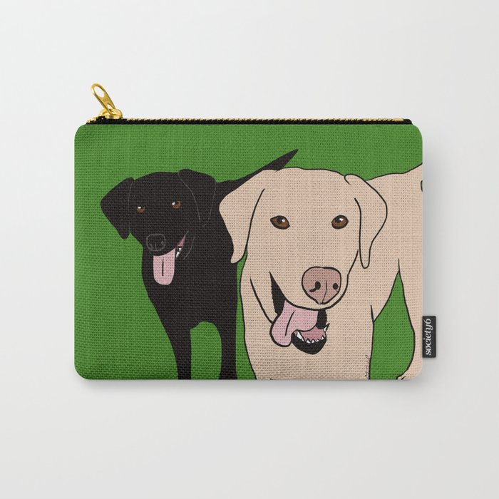 Tanner and Lily Best Labrador Buddies Carry-All Pouch