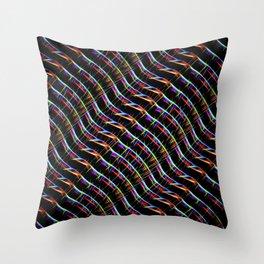 Blazing Neon Worm Line Dance I Throw Pillow