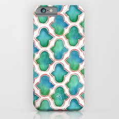 Blue/Green Moroccan Pattern iPhone 6s Slim Case