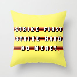 Cobra Kai (Rule of Threes) Throw Pillow