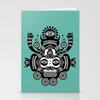 tatoo Stationery Cards featuring Râ Tatoo by Exit Man