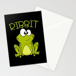 Ribbit Toad Limbs Jump Gills Pond Design Stationery Cards