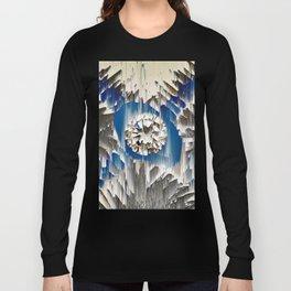 diamond in the blue agate cross Long Sleeve T-shirt