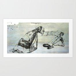 push/pull Art Print