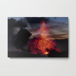 Kilauea Volcano at Kalapana 3a1 Metal Print