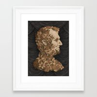 lincoln Framed Art Prints featuring Lincoln by Jessica Roux