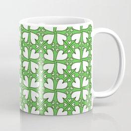 Clover Hearts Pattern Coffee Mug