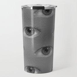 Pop-Art Black And White Eyes Pattern Travel Mug