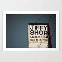 Jiffy Shop Art Print