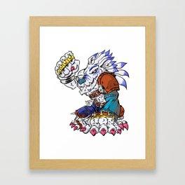 Weregarurumon Framed Art Print