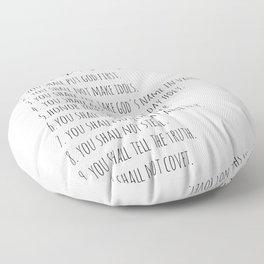 The Ten Commandments Exodus 20 Floor Pillow