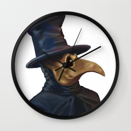 Noble Plague Doctor Wall Clock