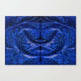 Blue glossy fabric texture Canvas Print