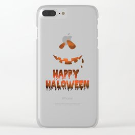 Happy Halloween Evil Smile Clear iPhone Case