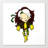 rogue Canvas Prints featuring ROGUE by Space Bat designs