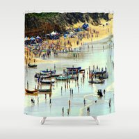 rowing Shower Curtains featuring Rowing Regatta by Chris' Landscape Images & Designs