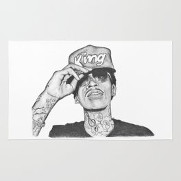 Wiz khalifa fan art Rug