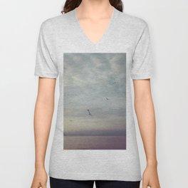 Purple Sunset Unisex V-Neck