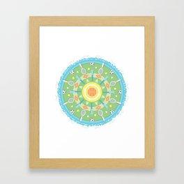 play outdoors mandala Framed Art Print