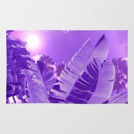 Ultra Violet Tropical Beach Palm Rug