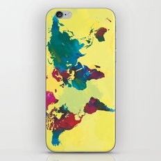 Watercolor World Map iPhone & iPod Skin