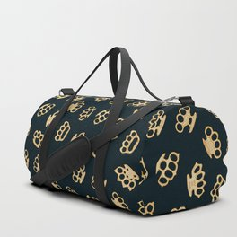 Brass Knuckles With Good Thoughts Duffle Bag
