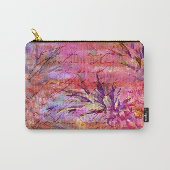 Pineappel tropical fruit colorful illustration Carry-All Pouch