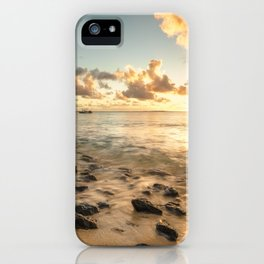 Sunset tropical beach Mauritius iPhone Case