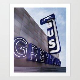 GREYHOUND BUS STATION COLOR Art Print