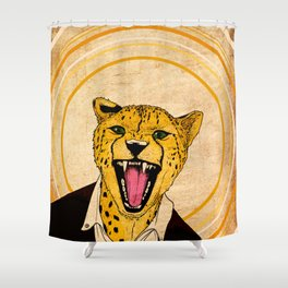Cheetah - Live Wild Shower Curtain