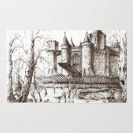 Swamp Fortress ink Rug