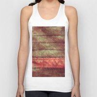 leather Tank Tops featuring Bookmark Leather by Charles Anderson Images