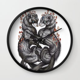 Ferret Companions Wall Clock