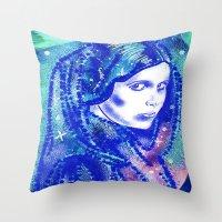 princess leia Throw Pillows featuring Princess Leia by grapeloverarts