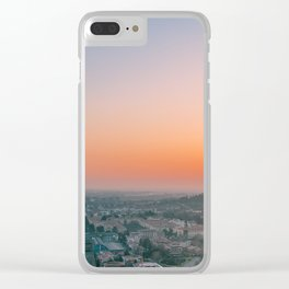 colorful sunset in Bergamo Clear iPhone Case
