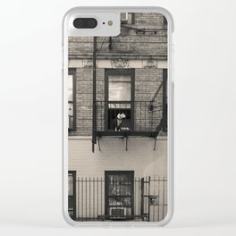 Portrait of a Dog - Urban City Landscape Photography Clear iPhone Case