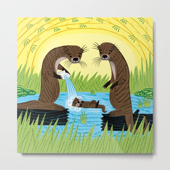 An Otter's Paradise Metal Print