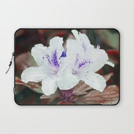 WHITE BLOSSOM - Rhododendron Laptop Sleeve