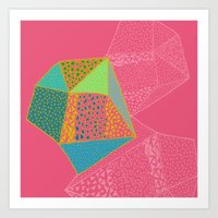 diamonds Art Prints featuring Diamonds by Sandra Arduini