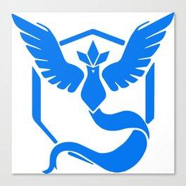 Poke Go Team Mystic Emblem - WHITE! Canvas Print
