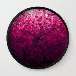 Magenta Spots Wall Clock