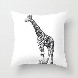 Vintage Giraffe Throw Pillow