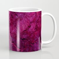 heavy metal Mugs featuring Purple Heavy Metal by Lord Egon Will